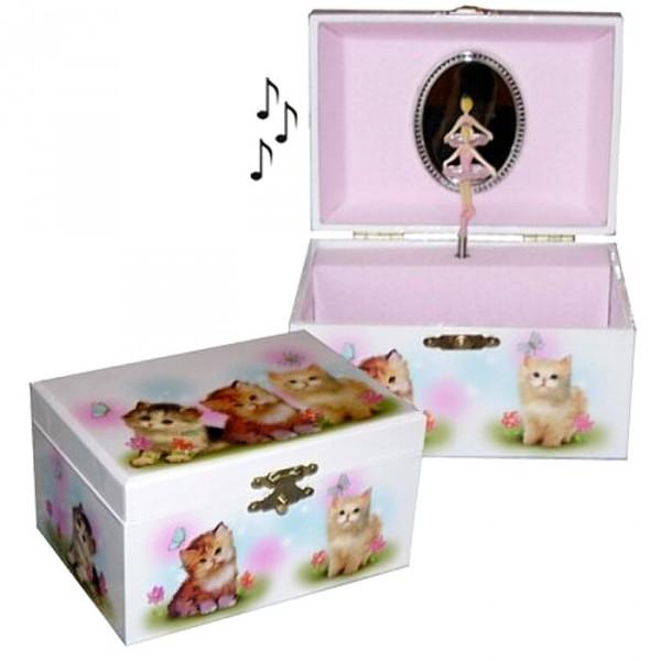 boite bijoux musicale 3 chatons pour enfants cavacado. Black Bedroom Furniture Sets. Home Design Ideas