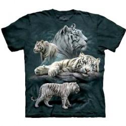 Tee shirt Tigre - White Tiger Collage