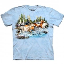 Tee shirt enfant Cheval - 20 running horses