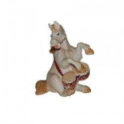 Cheval Tambour - miniature porcelaine