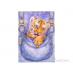 Carte + enveloppe  - Bébé tigre