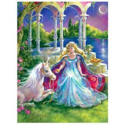 Puzzle Princesse et Licorne - 100 pièces XXL