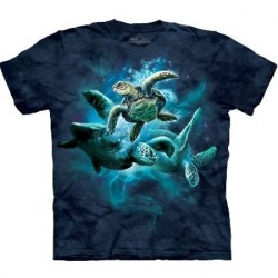 Tee shirt enfant Tortue - Sea Turtle Collage