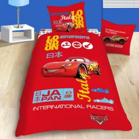 Parure de lit cars grand prix parure de lit enfant cavacado - Housse de couette grand lit ...
