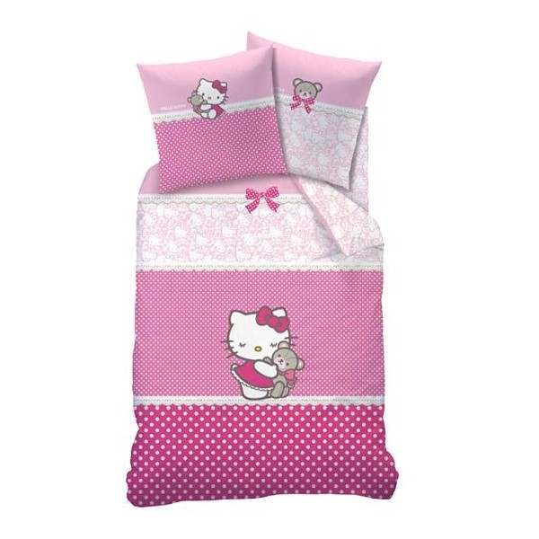 parure de lit hello kitty astrid cavacado. Black Bedroom Furniture Sets. Home Design Ideas
