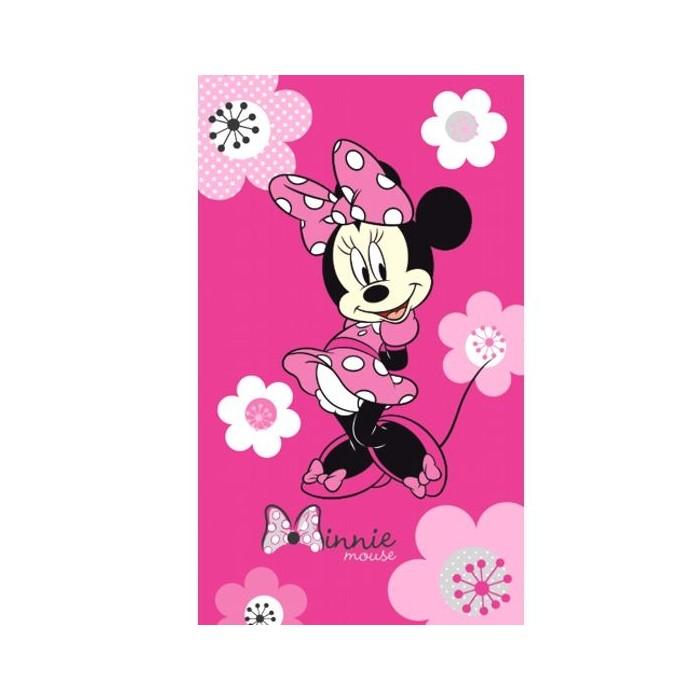 serviette de plage enfant minnie pink flowers cavacado. Black Bedroom Furniture Sets. Home Design Ideas