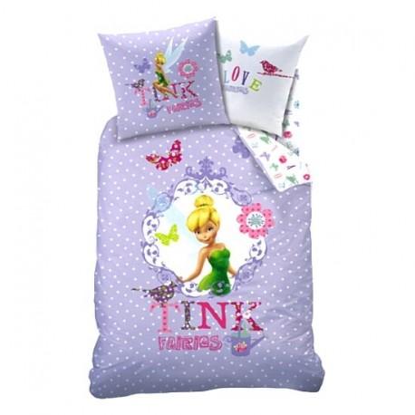 parure de lit housse de couette f e clochette rossignol pour enfant cavacado. Black Bedroom Furniture Sets. Home Design Ideas
