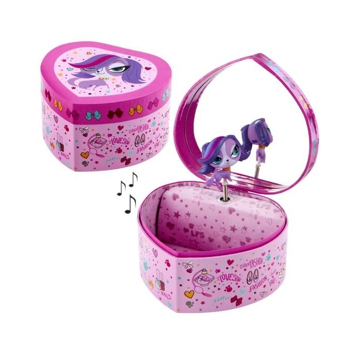 boite bijoux pour enfant my littlest pet shop en forme de coeur cavacado. Black Bedroom Furniture Sets. Home Design Ideas