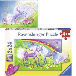 Puzzle Chevaux et papillons - 2 x 24 pièces