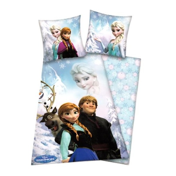 parure de lit enfant la reine des neiges pour les petites filles cavacado. Black Bedroom Furniture Sets. Home Design Ideas