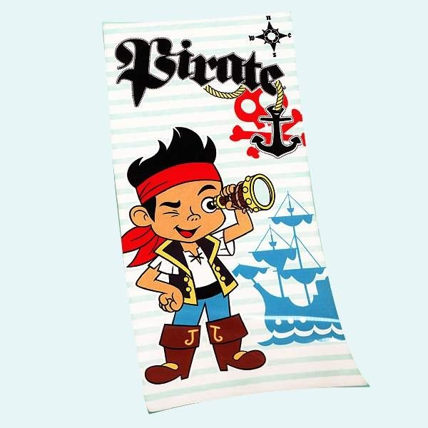 serviette de plage jake le pirate pour enfant cavacado. Black Bedroom Furniture Sets. Home Design Ideas