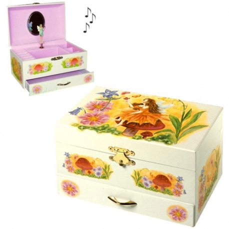 boite a bijoux musicale pour enfant fee fleurs cavacado. Black Bedroom Furniture Sets. Home Design Ideas