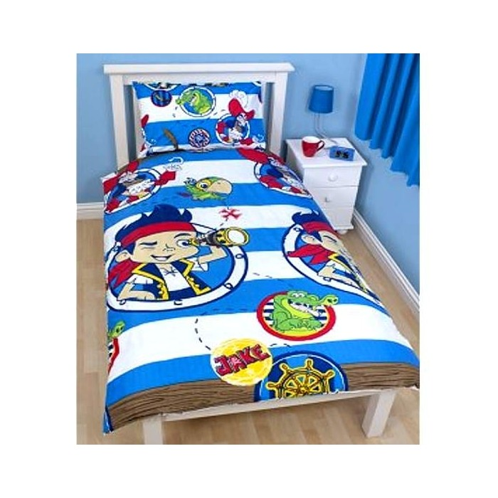 housse de couette enfant jake le pirate pour lit 1 personne cavacado. Black Bedroom Furniture Sets. Home Design Ideas