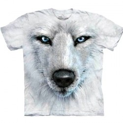 Tee shirt Loup -White Wolf face