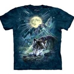 Tee shirt Loup - Wolf Night Symphonie