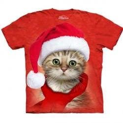 Tee shirt enfant Chat - Santa Cat red