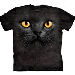 Tee shirt Chat -Big Face Black Cat