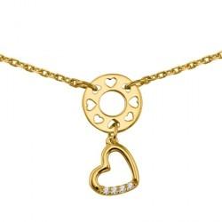 Collier coeur plaqué or