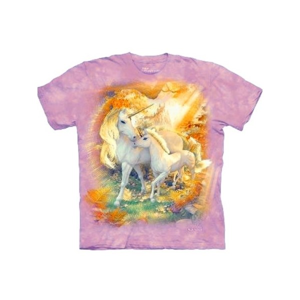 tee shirt fille avec des licornes t shirt licorne mother and baby cavacado. Black Bedroom Furniture Sets. Home Design Ideas