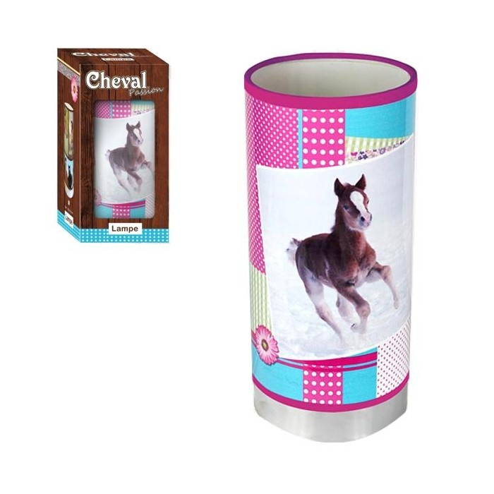 Lampe tube Cheval passion Girly