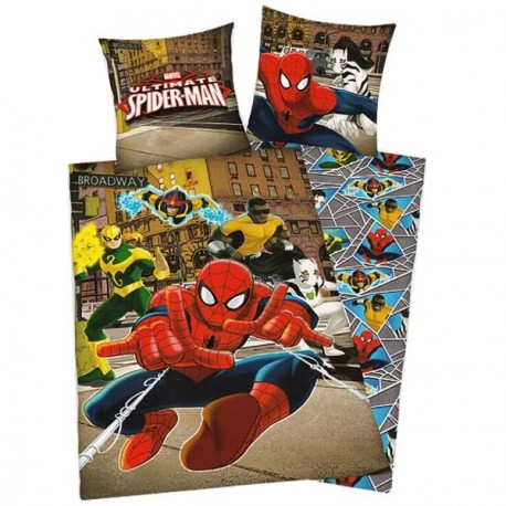 housse de couette et taie d 39 oreiller pour enfant spiderman. Black Bedroom Furniture Sets. Home Design Ideas