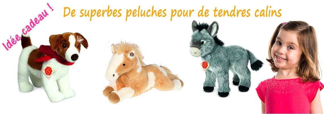 Nouvelles peluches cheval et animaux.