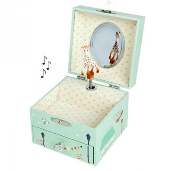 boite bijoux musicale sophie la girafe boite bijoux musicale pour enfant cavacado. Black Bedroom Furniture Sets. Home Design Ideas