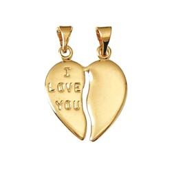 Pendentif Coeur sécable PO - Love