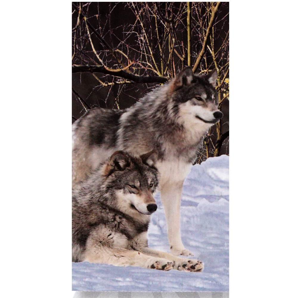 2aab6b1a826 Serviette de plage Couple de Loups - Drap de plage Loups - Cavacado