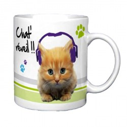 Mug Chat réveil