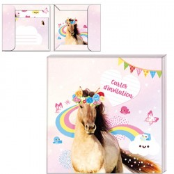 Cartes d'invitation Cheval Magic