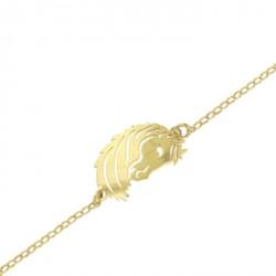 Bracelet Cheval argent finition dorée