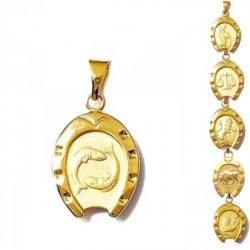 Pendentifs du Zodiaque - plaqué or