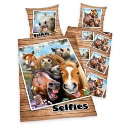 Housse de couette Selfies Chevaux