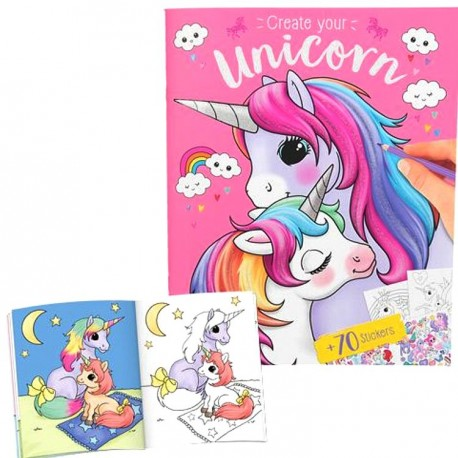 Album  de coloriage Licorne et stickers