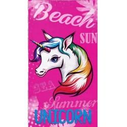 Serviette de plage Licorne rose - 90 x 170 cm