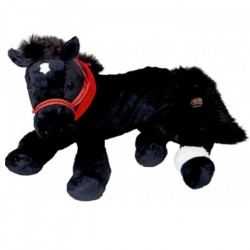 Peluche Cheval Câlin noir 45 cm