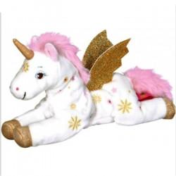 Peluche licorne couchée 22 cm