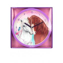 Horloge ronde Chevaux Miss mélody