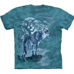 Tee shirt Loup à la pleine lune - Taille XL