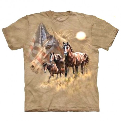 Tee shirt Chevaux Américains