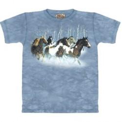 Tee shirt enfant Chevaux en hiver 13/14 ans