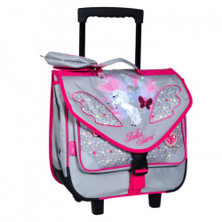 Cartable à roulettes Cheval Bella Sara Papillon 38 cm