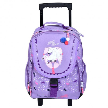 Sac à roulettes - cartable Cheval Bella Sara Mirage