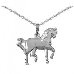 Pendentif Cheval tranquille argent