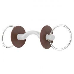 Mors 2 anneaux à passage de langue soft Beris