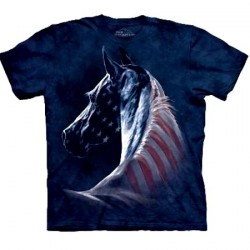 Tee shirt Cheval - Patriotic Horse Head