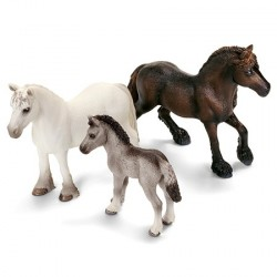 Figurines Cheval - Famille Poney Fell