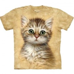 Tee shirt Chat - Brown Striped Kitten
