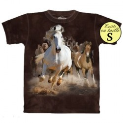 Tee shirt Chevaux au galop